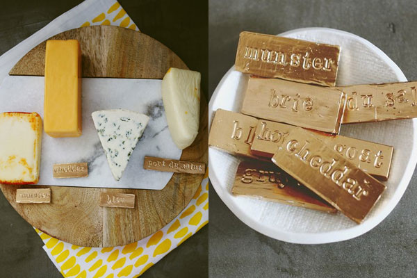 gold cheese handmade gifts for husband