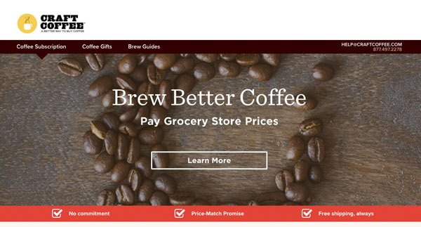 craft coffee subscription gifts