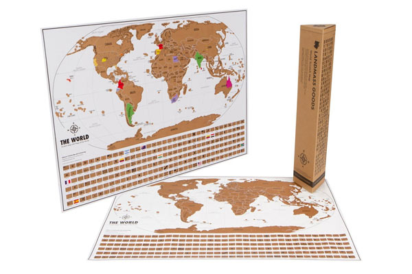 scratch map travel gifts for him