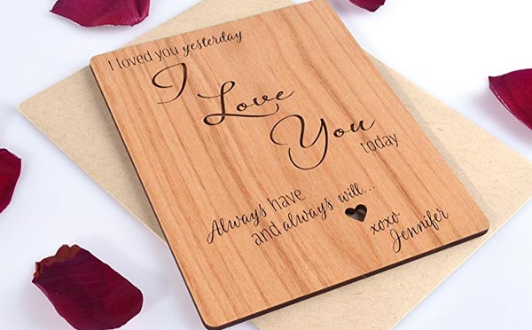 Astounding Romantic Birthday Ts For Husband Wooded Card This Gifts For Men Personalised Birthday Cards Paralily Jamesorg
